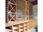 дървени стелажи за вино по поръчка