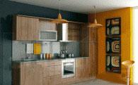 Стилна кухня по поръчка с дължина 3,10м